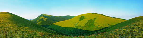 Caucasus Mountains in Kabardinka, Russia. Royalty Free Stock Images
