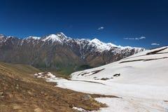 Caucasus Mountains Khevi region. Georgia. Royalty Free Stock Images