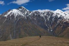 Caucasus Mountains Khevi region. Georgia. Royalty Free Stock Photos