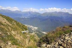 Caucasus Mountains. In Krasnaya Polyana Royalty Free Stock Photos
