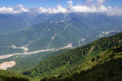 Caucasus Mountains in Krasnaya Polyana Royalty Free Stock Photography