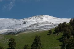 The Caucasus Mountains are a mountain system in West Asia between the Black Sea and the Caspian Sea in the Caucasus region. Royalty Free Stock Images