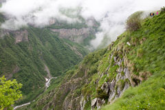 Caucasus mountains next to Gudauri ski resort in the Republic of Royalty Free Stock Images