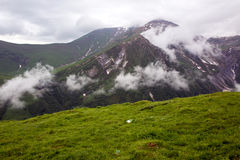 Caucasus mountains next to Gudauri ski resort in the Republic of Stock Photography