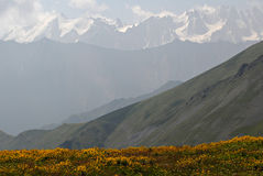 Caucasus mountains. Northen  Ossetia,  Russia Stock Image