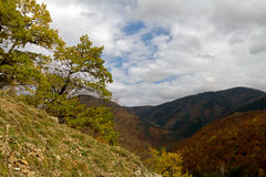 Caucasus Mountains. Observatory. Autumn in the mountains of the North Caucasus royalty free stock photos