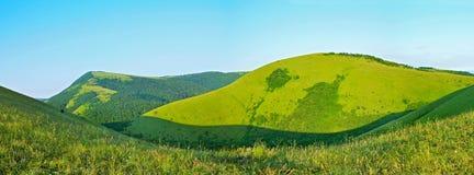 Caucasus Mountains, panoramic view Royalty Free Stock Photo