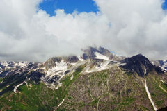 Caucasus Mountains. Region Dombay. Royalty Free Stock Image