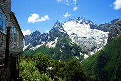 Caucasus Mountains. Region Dombay. Stock Photo