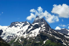 Caucasus Mountains. Region Dombay. Royalty Free Stock Photos