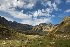 Caucasus. Mountains and sky Stock Images