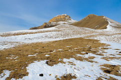 The Caucasus mountains in the snow Royalty Free Stock Image