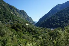 Caucasus Mountains in Sochi royalty free stock photography