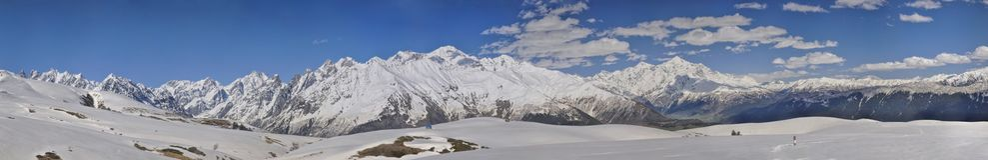 Caucasus Mountains, Svaneti Royalty Free Stock Photo