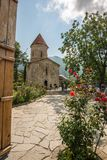 Sheki Tourist Destination in Caucasus Mountains an Albanian Church. In the Caucasus Mountains the town of Sheki is an undiscovered jewel for the tourist looking royalty free stock images