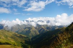 Caucasus mountains in Upper Svaneti,view from Latfari pass,Georgia Royalty Free Stock Photography