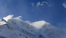 Caucasus Mountains in winter Stock Photography