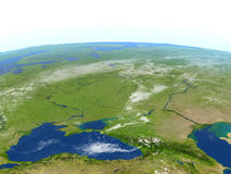 Caucasus region on planet Earth Stock Photography