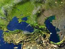 Caucasus region on planet Earth Royalty Free Stock Photography