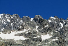 Caucasus rocky peaks landscape Royalty Free Stock Images