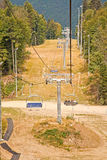 Caucasus. Ropeway. Olympic object, ropeway on the slope of mountain Stock Images