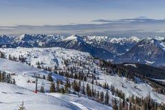 caucasus skidar den dombay regionen lutningen Royaltyfri Fotografi