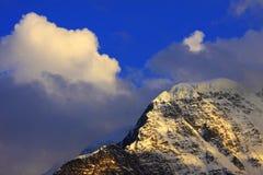 caucasus solnedgång Fotografering för Bildbyråer