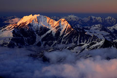 Caucasus sunrise Royalty Free Stock Photos