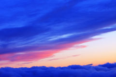 Caucasus sunset Royalty Free Stock Photography