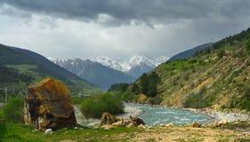 Caucasus vallei Royalty Free Stock Photos