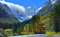 Caucasus valley Royalty Free Stock Image