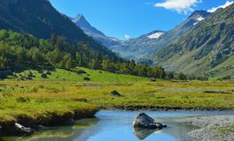 Caucasus valley Stock Photography