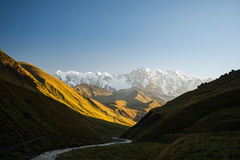 Caucasus valley Stock Photo