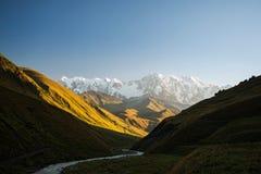 Caucasus valley. Nature of Caucasus valley near Shkhara in Georgia Stock Photo