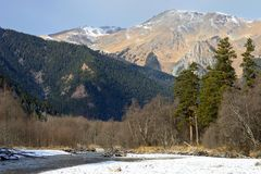 Caucasus valley Royalty Free Stock Images