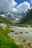 Caucasus valley Royalty Free Stock Image