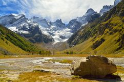 Caucasus valley Royalty Free Stock Photo