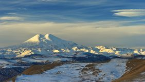 Caucasus in winter Royalty Free Stock Photography