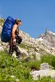 caucasus wycieczkowicza góry Fotografia Stock