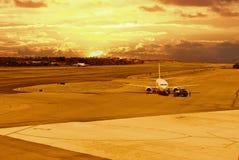 Cauce del aeropuerto foto de archivo