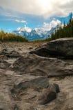 Cauce del río de Athabasca Fotografía de archivo libre de regalías
