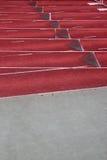 Cauce en un estadio vacío del atletismo Imagen de archivo