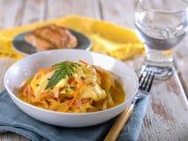 Cauche de queso, un fromage typique et soupe à oignon du Pérou Image libre de droits