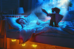 Cauchemar pour des enfants Photos stock