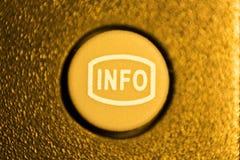 Caucho de la información del botón del teledirigido TV fotografía de archivo