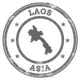 Caucho del grunge de la república Democratic del ` s de Lao People ilustración del vector
