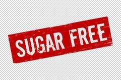 Caucho rojo del cuadrado de Sugar Free del Grunge libre illustration