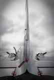 Cauda clássica do avião Imagem de Stock