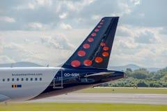 Cauda de Brussels Airlines Airbus A319 Imagem de Stock