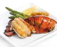 Cauda de lagosta grelhada Imagens de Stock